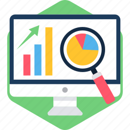 analytics, business, computer, display, monitor, presentation, screen icon