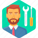 mechanic, machine, repair, industry, construction, service
