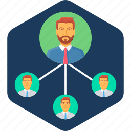 business, hierarchy, management, office, organization, structure icon