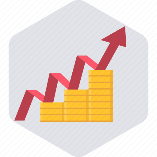 business, chart, diagram, finance, graph, growth, revenue icon