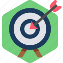 achievement, board, bullseye, dart, goal, success, target icon