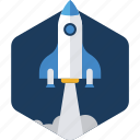 business, launch, marketing, missile, rocket, startup icon