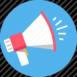 announce, announcement, broadcast, bullhorn, media icon