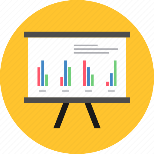 analytics, board, business, graph, marketing, presentation, report icon