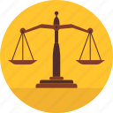 balance, judge, judgement, justice, scale, weighing, weight icon