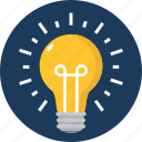 bulb, business, creative, creativity, electricity, idea, innovation icon
