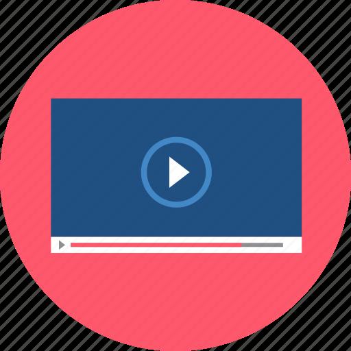 film, media, movie, multimedia, paused, player, video icon