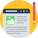 document, layout, page, paper, web, webpage, website icon