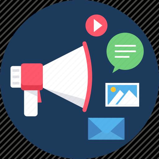 broad, broadcast, communication, media, multimedia, social, video icon