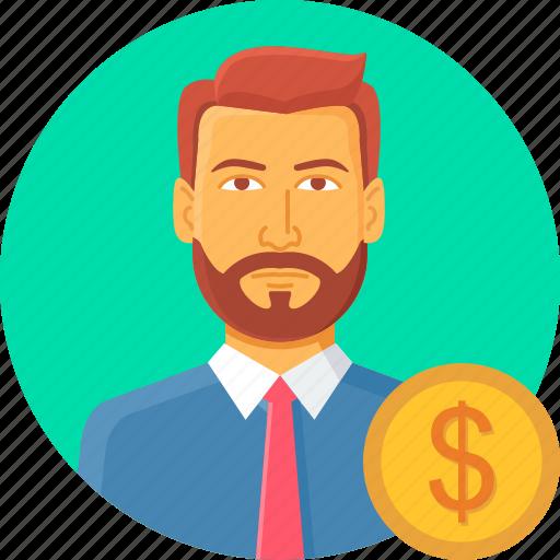 account, avatar, dollar, finance, money, person, profile icon