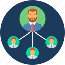 connection, group, hierarchy, meeting, network, organization, structure icon