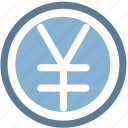 cash, coin, coins, money, yen icon