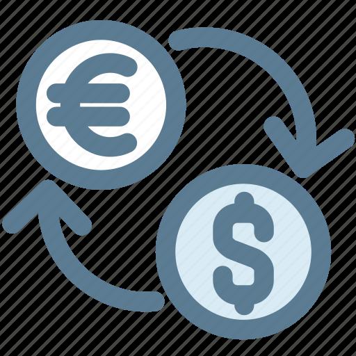 charge, dollar, exchange, fees euro, money, money business icon
