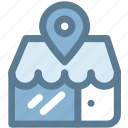 business, commerce, location, shopping, store, store location icon
