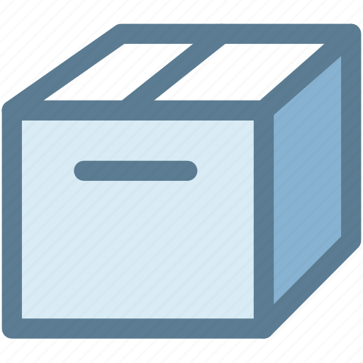box, cardboard box, crate, package, shipping box icon