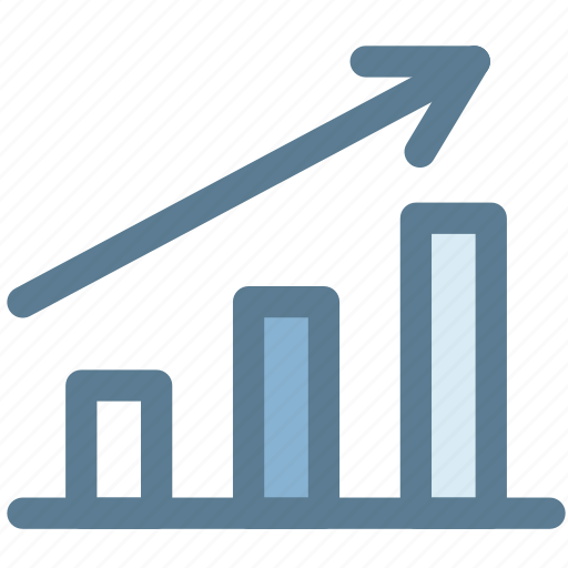 business, graph, higher, increase, marketing, statistics, success icon