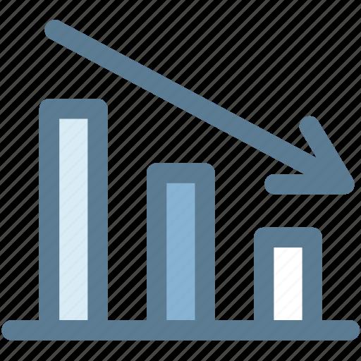 business, chart, decline, decrease, down, marketing, statistic icon