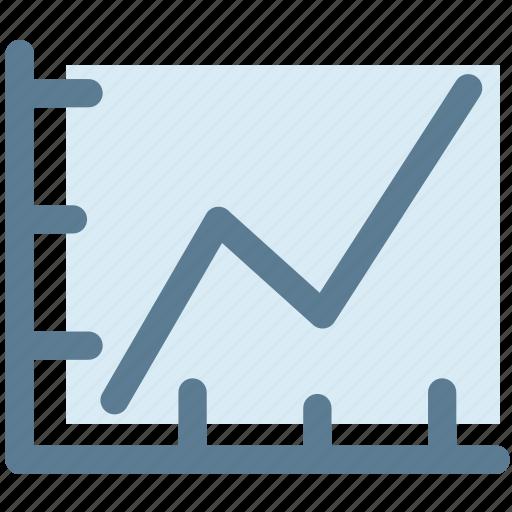 graph, higher, increase, statistics, success icon