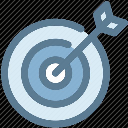archer, arrow, bullseye, goal, precision, target icon