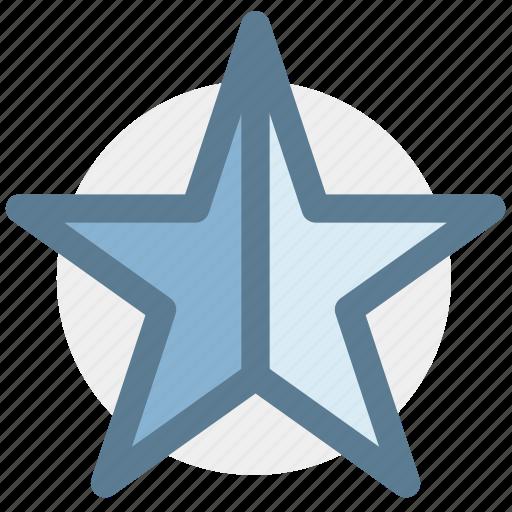 half starhalf, ratings, rising star, shooting star, star icon