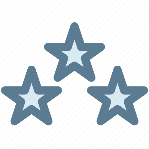 ratings, rising star, shooting star, star, three stars icon