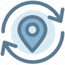 find, location, marker, pin, refresh location, search icon