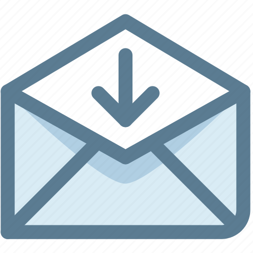 electronic mail, email, email receive, incoming, letter, send icon