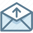 electronic mail, email, email send, letter, outgoing, send icon