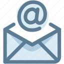 at, electronic mail, email, letter, recieve, send icon