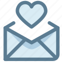 email, favorite, letter, love, love letter, send icon