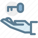 hand, insurance, key, key insurance, property, protection icon