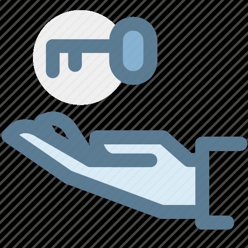 hand, insurance, key, key insurance, property, protection icon