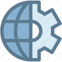 business, earth, global, global mechanism, mechanism, setting icon