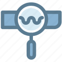 find, internet, magnifying glass, research, search, web, web search icon icon