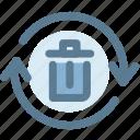 bin, recycle, recycle bintrash, recycling bin icon