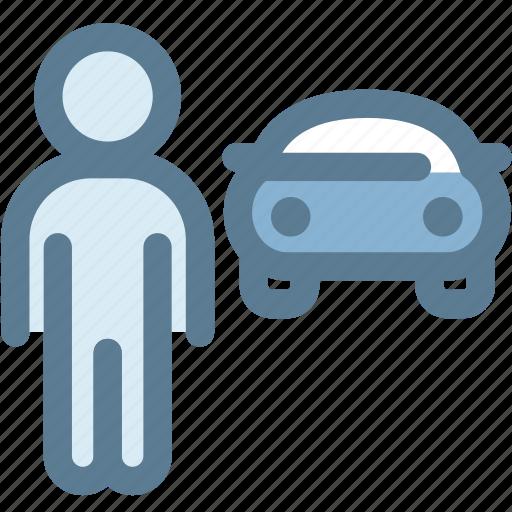 car, car man, driver, man, owner, transport icon