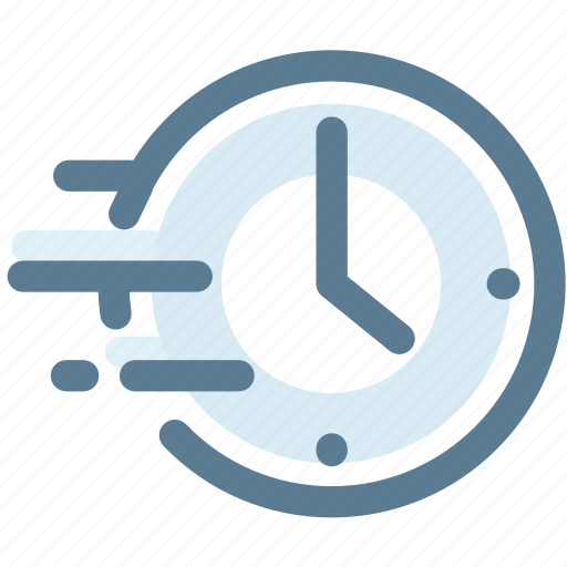 clock, delivery, fast, move, time delivery, timing icon