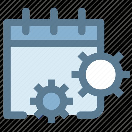 booking, calendar, calendar settings, mechanism, schedule, setting icon