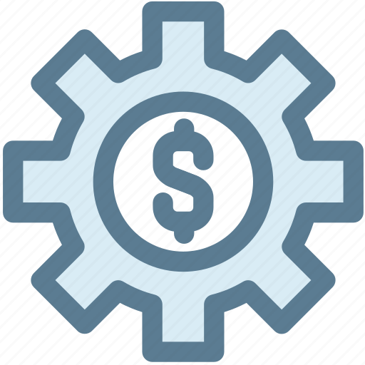 bussiness, gear, marketing, mechanism, money, money settings, settings icon