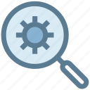 find, find settings, magnifier, option, search, setting icon