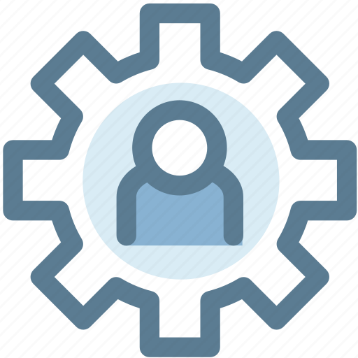 human, mechanism, member, person, setting, user settings icon
