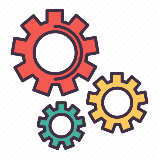 business, content, gear, managment, marketing, seo, settings icon