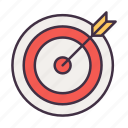 business, goal, marketing, seo, target icon