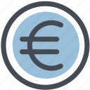 cash, coin, coins, euro, money icon