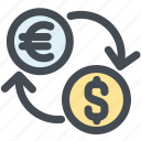 charge, dollar, exchange, fees euro, money, money business