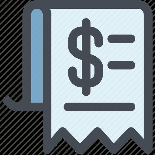 bill, check, invoice, list, money, receipt icon