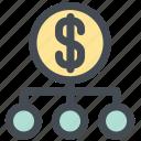 finance, investment, money, money strategy, plan, scheme icon