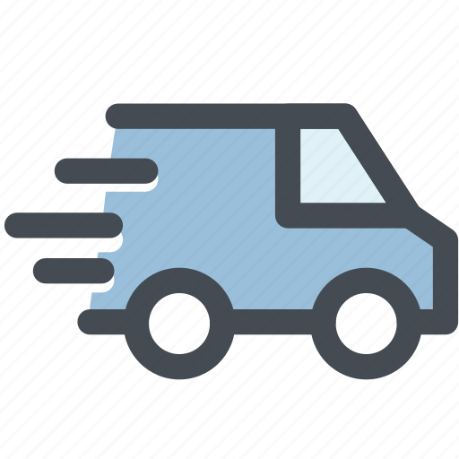 delivery, delivery car, logistics, package, truck, van icon