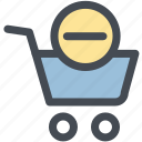 check out, groceries, remove, shopping cart, store icon