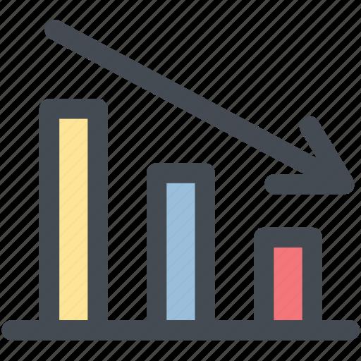 chart, decline, decrease, down, statistic icon